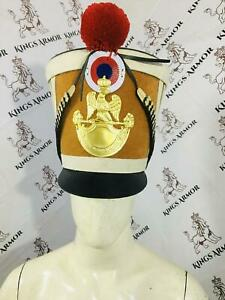 Napoleonic Shako Helmet | Brown Color | Size M to XL Adjustable