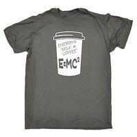 Energy Milk Coffee E=MC2 MENS T-SHIRT tee birthday caffeine funny joke fashion
