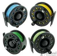 Carbon Graphite Composite Fly Fishing Reel + Fly Line & Backing 3/4, 5/6, 7/8