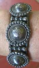 Old Pawn Vintage Navajo Sterling Silver Large Concho Cuff 40 Grams