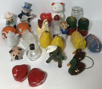 Lot Of Mixed Vintage Salt and Pepper Shakers Lot of 25+ Pieces