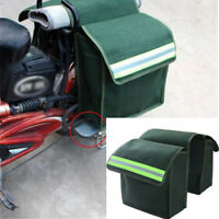 Thick canvas Motorcycle Saddle Side Bag great capacity  Helmet Tank Bags GREEN