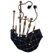 HM GREAT HIGHLAND BAGPIPE ROSEWOOD NATURAL COLOR SILVER MOUNTS/SCOTTISH BAGPIPES