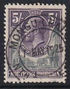 NORTHERN RHODESIA GV SG14, 5s slate-grey & violet,  USED. Cat £19.