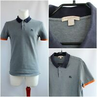 Burberry Brit Mens Cotton Polo Shirt Size M Gray
