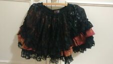Spider elegant Gothic Lolita mini skirt with lace and ribbon black gold and red
