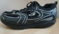 SKECHERS Shape Ups 12320 Womens Black Silver Walking Toning Shoes Size 9.5