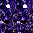 Cornhole Wraps - Grim Reaper Bow Hunting Purple Camo Amethyst Blaze 2 Sheets