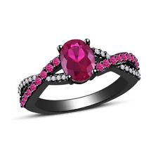 Oval Sapphire Wedding Fine Rings