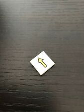LEGO ESPACE Space white tile 3068bp08 with arrow pattern / 6542 6990 6932 6972