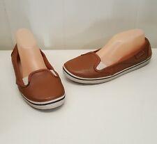 Crocs Brown Loafers Flats Slip On W10 Comfort