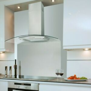 Luxair Valore 90cm Curved Glass Chimney Hood Stainless Steel - 2 Years Warranty