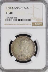 1916 Canada 50C -- NGC XF40