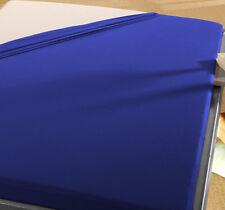 2 Biber Bettlaken 150x250 cm MARINE BLAU  B Ware