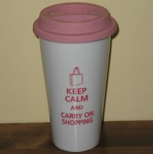 Keep Calm and Carry On Shopping Coffee Travel Tumbler Mug Place D'Orleans Ottawa