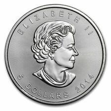 1 Onza de plata - Canada Maple - 5 Dollars - 2014