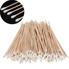 "200pc 6"" Long Wood Handle Cotton Swab Buds Applicators Lab Cleaning Tool Kit"