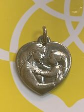 Gorgeous James Avery Retired Heart Mother And Child Charm 925 Pendant