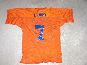 Vintage 1980's Denver Broncos JOHN ELWAY custom practice Football Jersey youth
