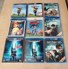 3D Blu Ray (7) Movie Lot Harry Potter, Tron, Beauty and the Beast, and More!!!