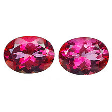 EYE-CATCHING 23.15 CT OVAL FACET PAIR OF 2 Pcs 100% NATURAL PINK TOPAZ GEMSTONE