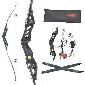 "60"" ILF Longbow Recurve Bow Takedown ArrowRest Archery Hunting Target BOSEN HORN"