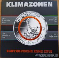 """MDS MÜNZFOLDER """"SUBTROPISCHE ZONE"""" ZUR AUFBEWAHRUNG IHRER 5 EURO-MÜNZEN, LEER"""