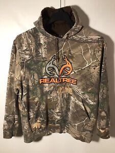 Realtree Xtra Camo Hoodie with Orange Antler Logo Men's XL (L)