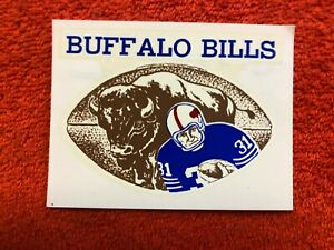 c. 1960's BUFFALO BILLS VINTAGE AFL DECAL STICKER *RARE*
