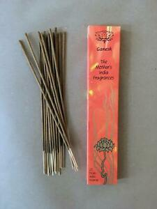 Ganesh The Mother's India Fragrances. Natural Hand Rolled Indian Incense Stick