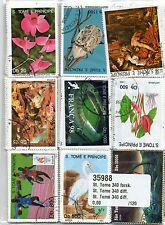 TIMBRES SAO TOME E PRINCIPE : 50 TIMBRES TOUS DIFFERENTS / SAO TOME STAMPS