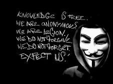 Framed Print - Anonymous (Hacker Faction Knowledge Legion Picture Poster Art)