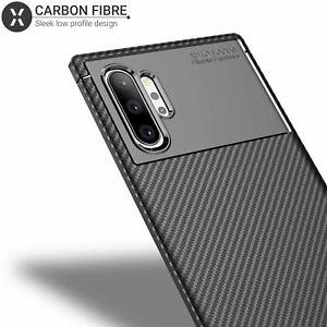 Samsung Galaxy Note 10 Plus Case, Carbon Fibre Case Cover -  Black