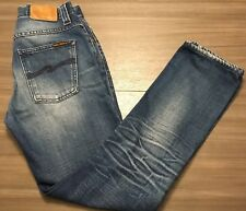 Nudie Jeans Co Mens Straight Leg Relaxed Fit Organic Cotton Button Fly 30W x 29L