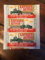 1953 ANTIQUE AUTOS BOWMAN WAX CARD WRAPPER