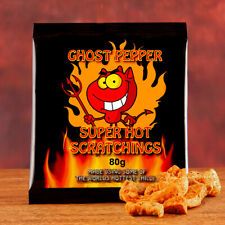 Chilli Wizards Ghost Pepper cerdo scratchings. el calor extremo. naga Jolokia 80g