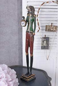 Figurine Chien Teckel Comme Transporteur D'Horloge Horloge de Table 65cm