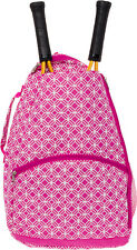 LISH NEW Women's Ace Printed Tennis Racket Holder Travel Backpack Tote Bag