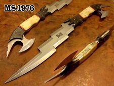 "19.0""OZAIR CUSTOM MADE D2 STEEL FULL TANG COMBAT KRIS DAGGER KNIFE MS-1976"
