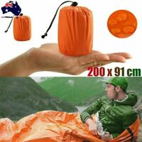 Emergency Sleeping Bag Camping Hiking Thermal Waterproof For Outdoor Survival AU