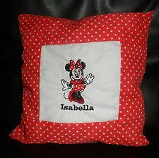 MINNIE Mouse Polka Dot Baby Ragazze Personalizzato cuscino pillow bomboniera regalo