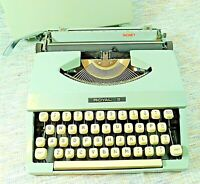 Royal Signet Manual Typewriter with Cover 1970's Gray Japan Ribbon Cover Loose