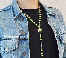 JAMAICA Flag Necklace, Jamaican Flag Pendant Rasta Reggae Jewelry Men Women