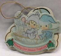 Vintage Die-Cut Ornament PRECIOUS MOMENTS Christmas Holiday Tree Decoration 1992