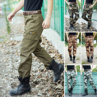 Mens Military Army Combat Camo Pants Casual  Work Cargo Comfort Trousers XL-4XL
