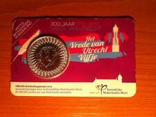(M-24) Het Vrede van Utrecht vijfje 2013 UNC -coincard