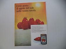 advertising Pubblicità 1967 PELATI CIRIO