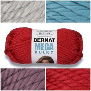[BUY 10 GET 25% OFF] Bernat Mega Bulky 300g Yarn - Jumbo Weight Extra Thick Yarn