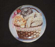 """1991 Franklin Mint Three Little Kittens 8"""" Collector Porcelain Plate by K Duncan"""