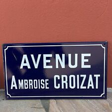 Old French Street Enameled Sign Plaque - vintage croizat 3